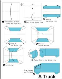 truck instructions origami truck instructions found here info