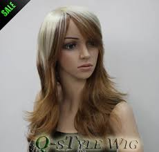 medium length hair with ombre highlights wholesale wig medium length highlight color ombre blonde to brown