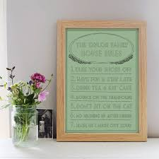 Family House Rules by Family Rules Print By Little Pieces Notonthehighstreet Com