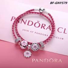 pandora leather bracelet pink images Pink pandora magnolia flower leather bracelet jpg