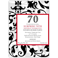 fun faux flocked 70th birthday invitations paperstyle