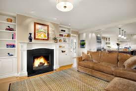 fireplace mantel shelves family room traditional with open floor