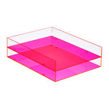 acrylic desk tray the container store