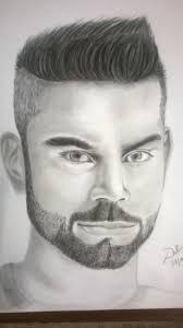 virat kohli realistic pencil portrait drawing timelapse youtube