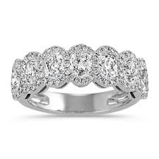 halo wedding rings images Oval and round diamond halo wedding band shane co jpg&a