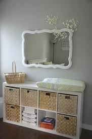 Used Changing Tables Ikea Bookshelf Turned Sideways For Changing Table Idea