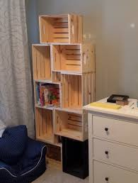 Wooden Crate Shelf Diy by Diy Crate Bookshelf Tutorial U2014 Tara Michelle Interiors