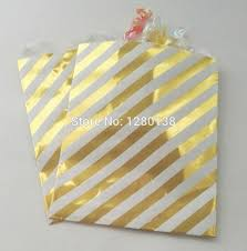 paper favor bags metallic gold party paper products striped design party favor bags