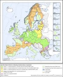 Europe Map With Rivers by Map Of Eu River Basin Districts Geography Pinterest