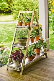 31 Md 00510 Ladder Shelves by Garden Plant Stand Woodworking Plan Outdoor Patio Furniture