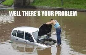 The Rock In Car Meme - slight water damage 25 hilarious car memes complex