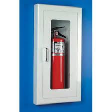 semi recessed fire extinguisher cabinet universal a116 strike first semi recessed fire extinguisher