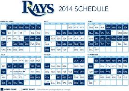 Tampa Bay Lighting Schedule Rays 2014 Mlb Schedule And Notes Draysbay