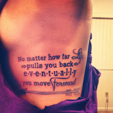 arrow quotes on rib side tattoos search unique