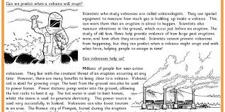 volcanoes comprehension classroom secrets
