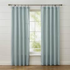 Lined Linen Drapery Panels Largo Aqua Linen Curtain Panels Crate And Barrel