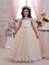 beige dresses for wedding ivory and beige flower dress birthday wedding