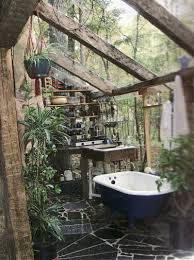 bathroom dazzling outside bathroom with stone pavers and white
