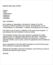 investor rejection letter samples rejection letter sample for job