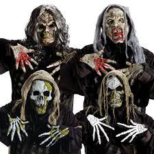 Skeleton Masks For Halloween by Zombie Skull Mask U0026 Gloves Halloween