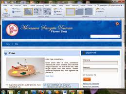 install and customizing template blog by artisteer
