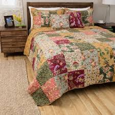 greenland home fashions blooming prairie 5 cotton quilt set
