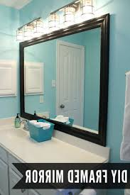 bathroom mirror border ideas diy wall mirrors with glamorous