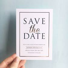 save the dates modern black white gold save the dates with gold foil designed