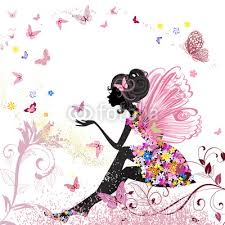 poster chambre fille flower in the environment of butterflies for s room