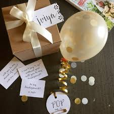how to ask will you be my bridesmaid will you be my bridesmaid balloon message gift box kraft with