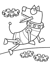 robot dog coloring pages bull gallery