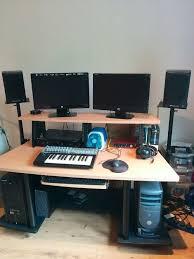 Studio Computer Desk by Music Studio Recording Workstation Desk For Sale Good Condition