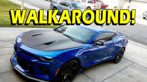 blue chevrolet camaro camaro 1le walkaround 2017 hyper blue