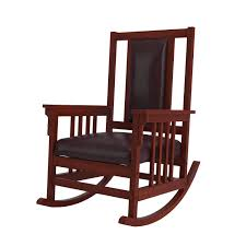 Mission Oak Rocking Chair Amazon Com Coaster Mission Style Rocking Wood And Leather Chair