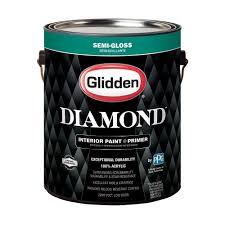 glidden diamond 1 gal pure white semi gloss interior paint and