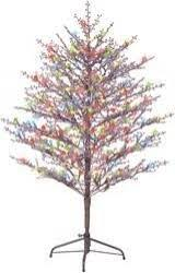 ge 5 foot pre lit winterberry brown tree with led lights