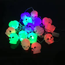 Halloween Yard Lighting Online Get Cheap Skull String Lights Aliexpress Com Alibaba Group
