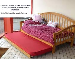 wood daybed with trundle bed u2013 equallegal co