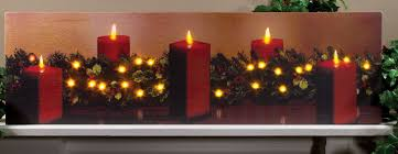 Christmas Garland With Lights by Christmas Pictures With Flickering Candle Light