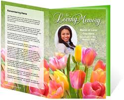 create funeral programs new funeral program customization services create lasting
