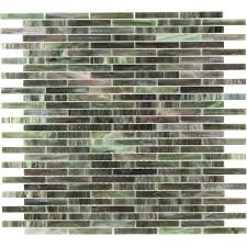 shop elida ceramica jade brick mosaic glass wall tile common 13
