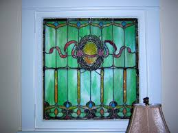 leaded stain glass window from denver square home c 1900 from