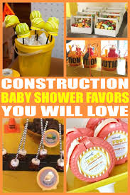 construction baby shower baby shower favors