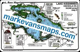 map of kissimmee lake kissimmee bass map maps
