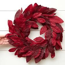 burgundy artificial magnolia wreath wreaths floral supplies