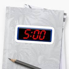 Cool Digital Clocks 5 Five Fifth Time Digital Clock 5 00 Cool Retro Old