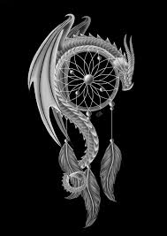 pinks dragon tattoo 2 the dream guardian u0027dragon and a dream catcher u0027 by clb raveneye on