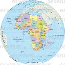 Map Of Africa Political by Geoatlas Globes Africa Map City Illustrator Fully Modifiable
