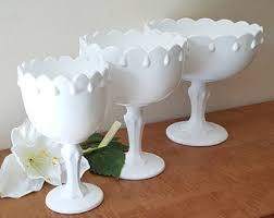 Pedestal Bowls For Centerpieces Clear Glass Fleur D Lis Punch Bowl 9 Piece Set By Kig Malaysia