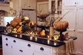 Buffet Table Decor by Decorating Autumn Theme Buffet Table Decorations Feature White